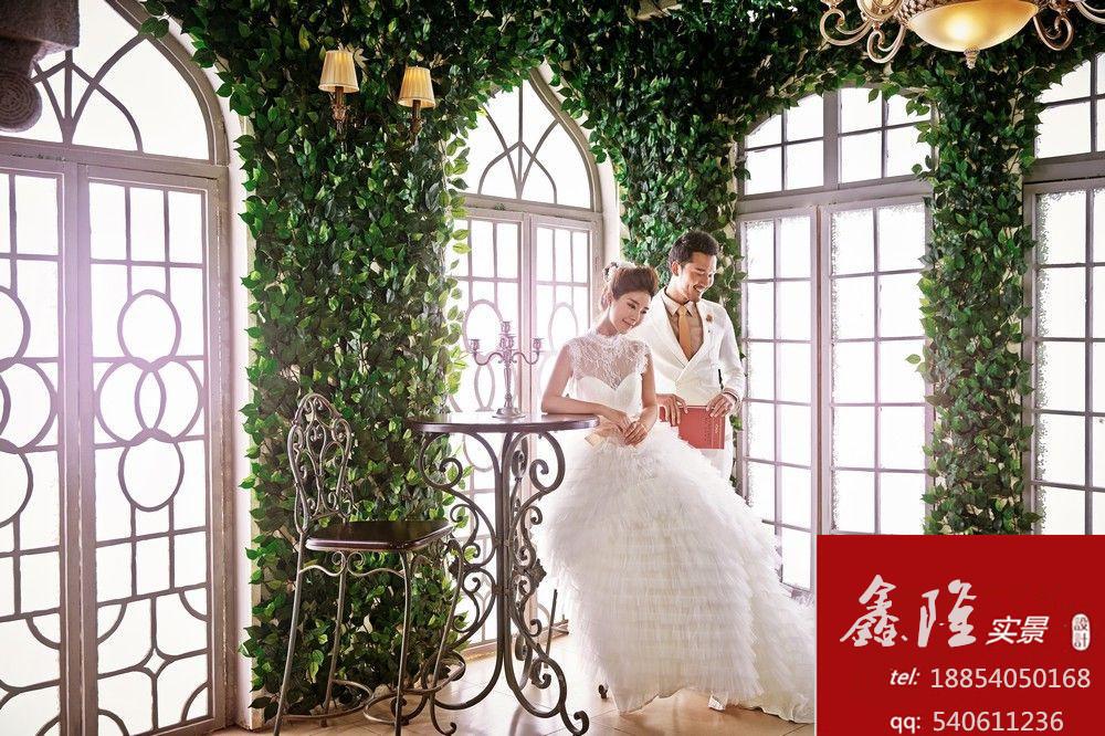 实景,高端复古中式婚纱实景, 3d、无闪儿童实景影棚,旧景翻新