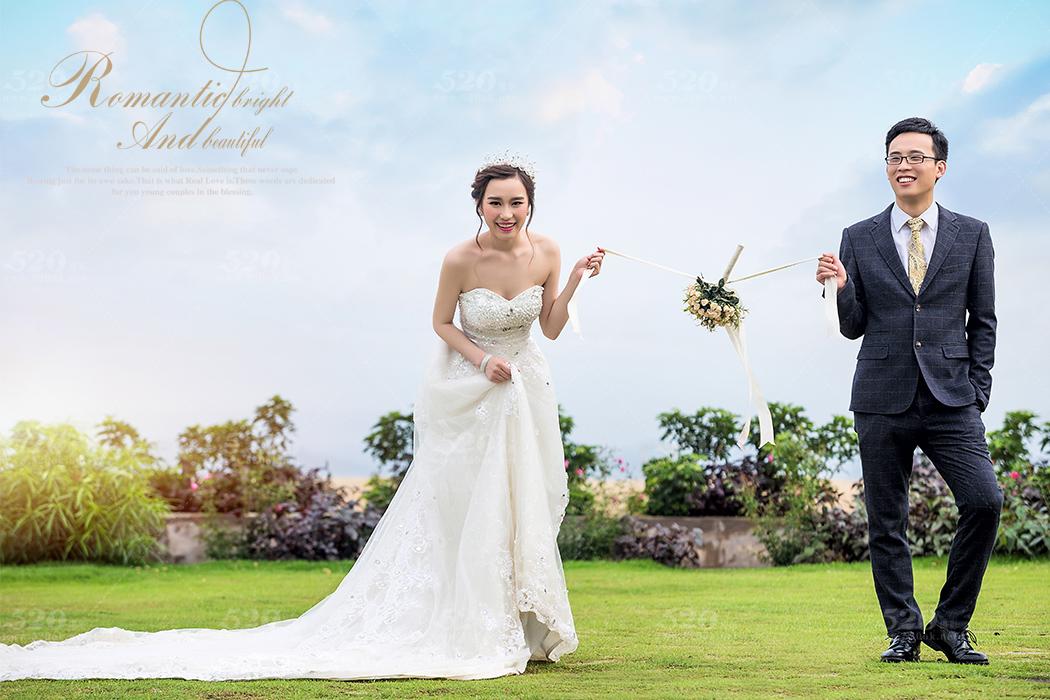 玫瑰海岸婚纱照