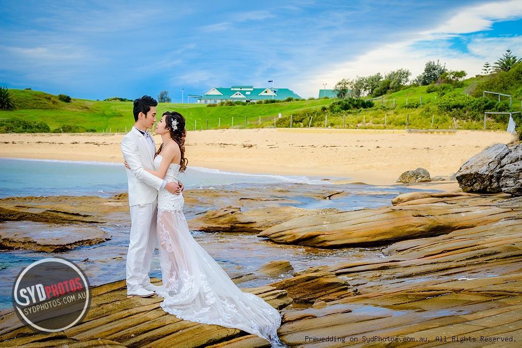 岩石海景婚纱照