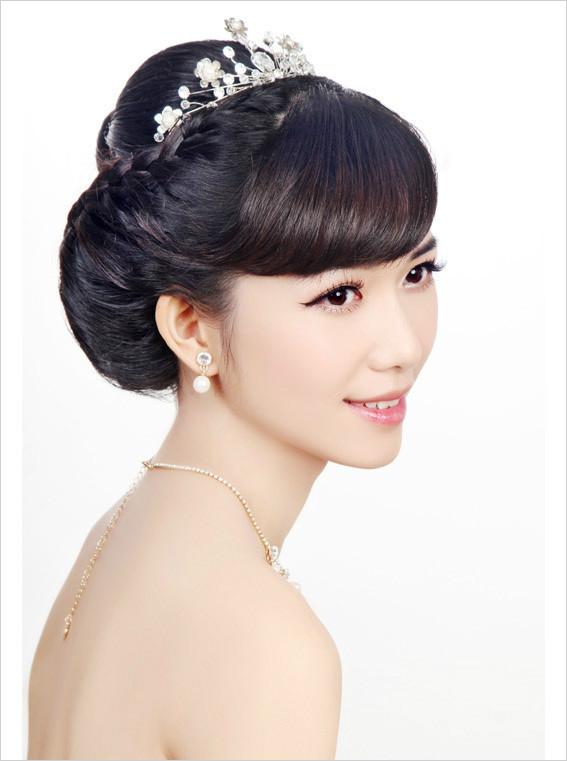 韩式新娘编发教程_化妆造型教程图片
