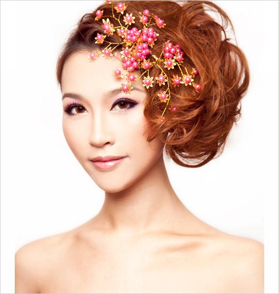 浪漫唯美的新娘晚礼发型