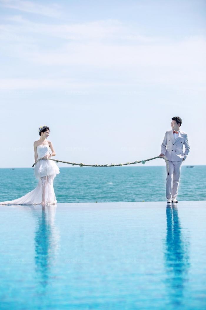 沈阳浪漫温馨婚纱照,沈阳海边婚纱照