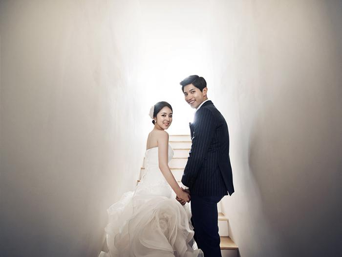 郑州韩式婚纱摄影 纯背景婚纱照