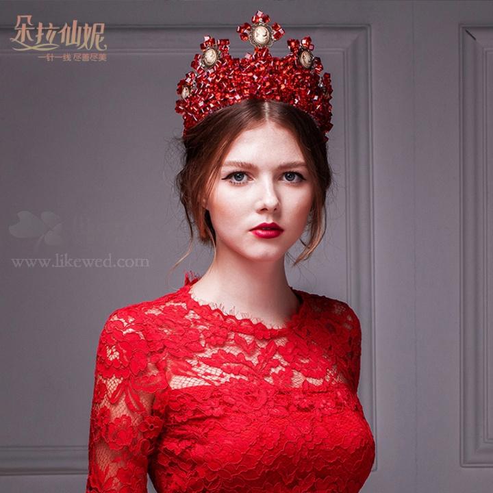 复古欧美女王范新娘造型