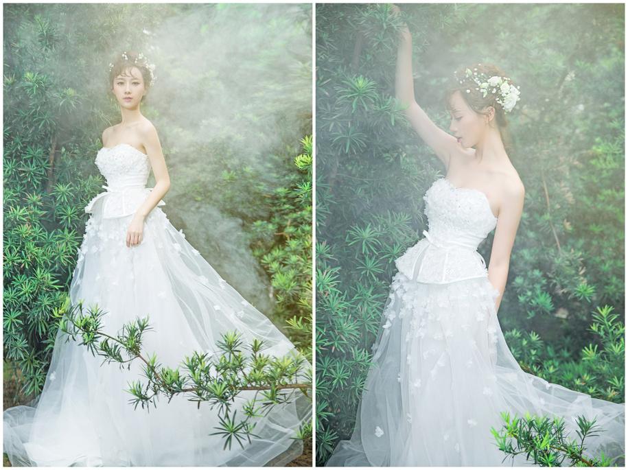 超美森系新娘婚纱造型图片