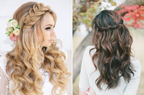 公主头新娘发型 超有女人味的半盘发