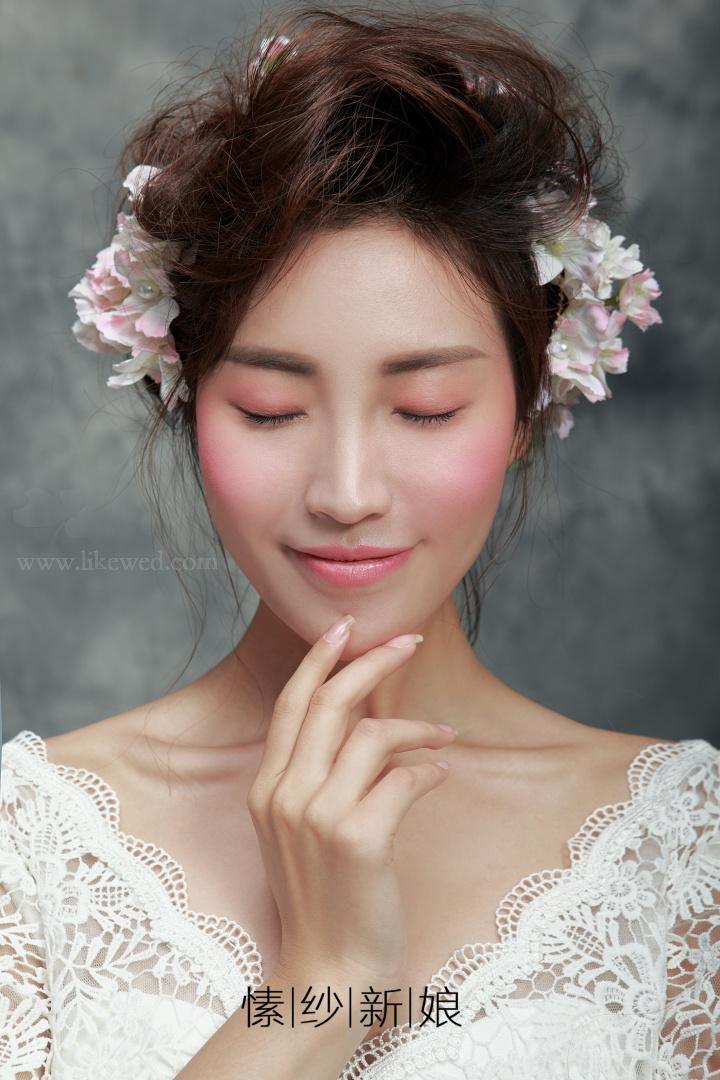 甜美可爱仙新娘妆容