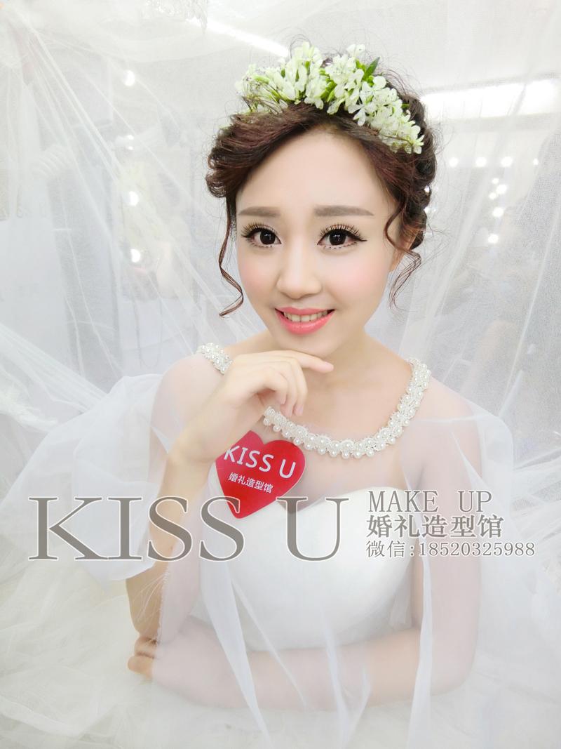 新娘短发造型-kiss u婚礼造型馆-广州化妆师婷婷