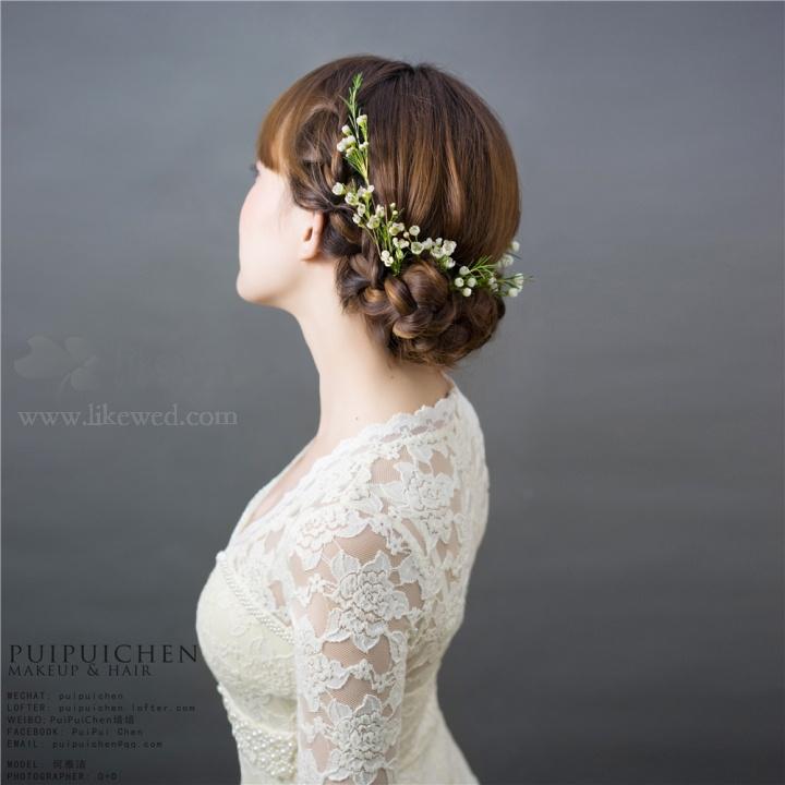 新娘鲜花造型图片