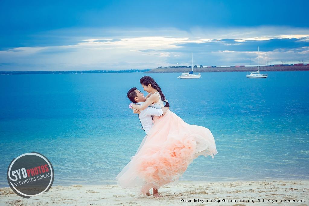 唯美四季海边婚纱照