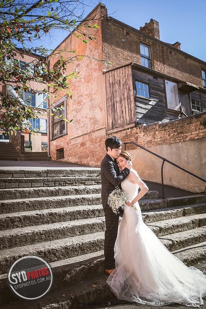 悉尼街头婚纱照风格