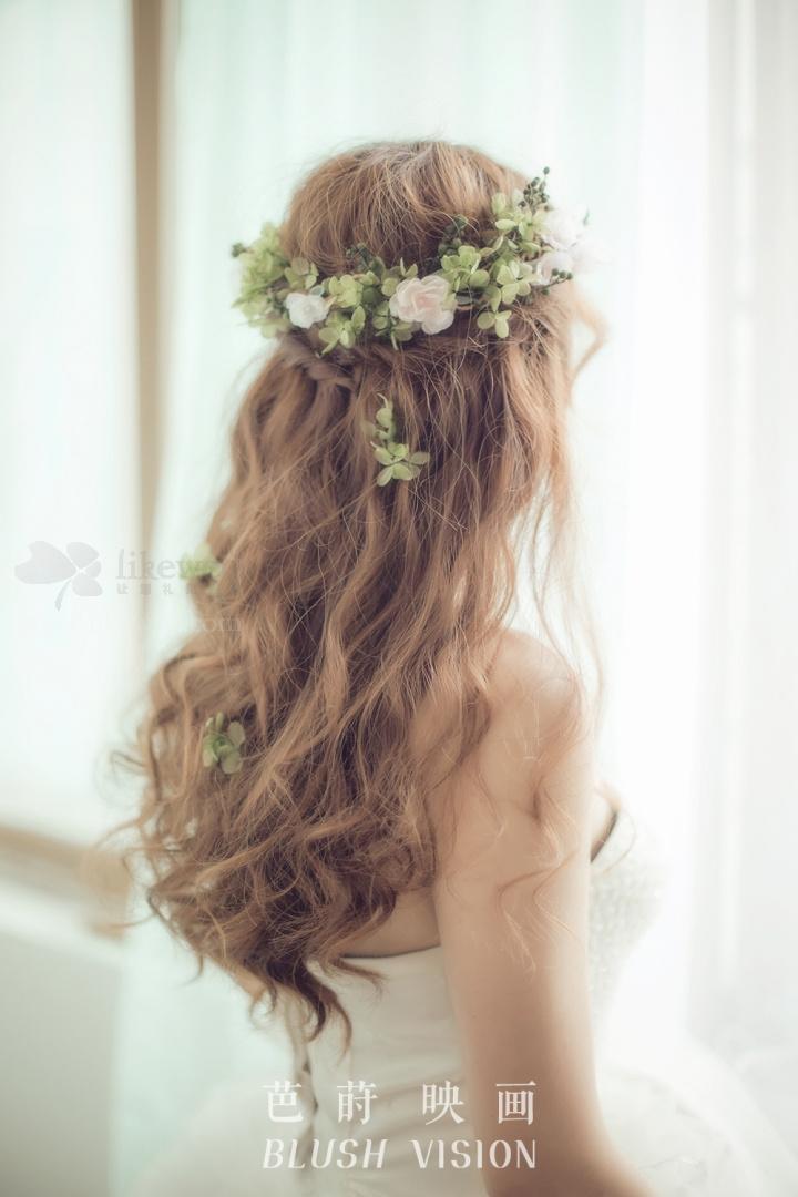森系新娘造型_发型设计