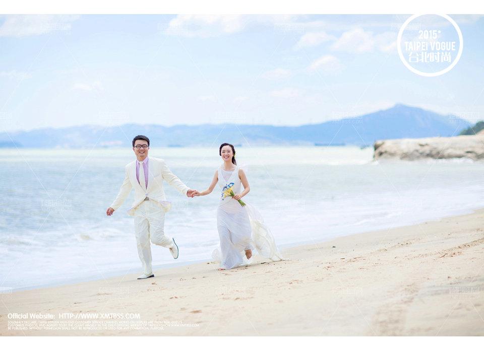 厦门最新海景海边外景婚纱照【台北时尚】-厦门台北时尚婚纱摄影婚
