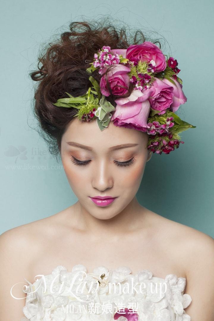 新娘造型 美丽的鲜花新娘图片