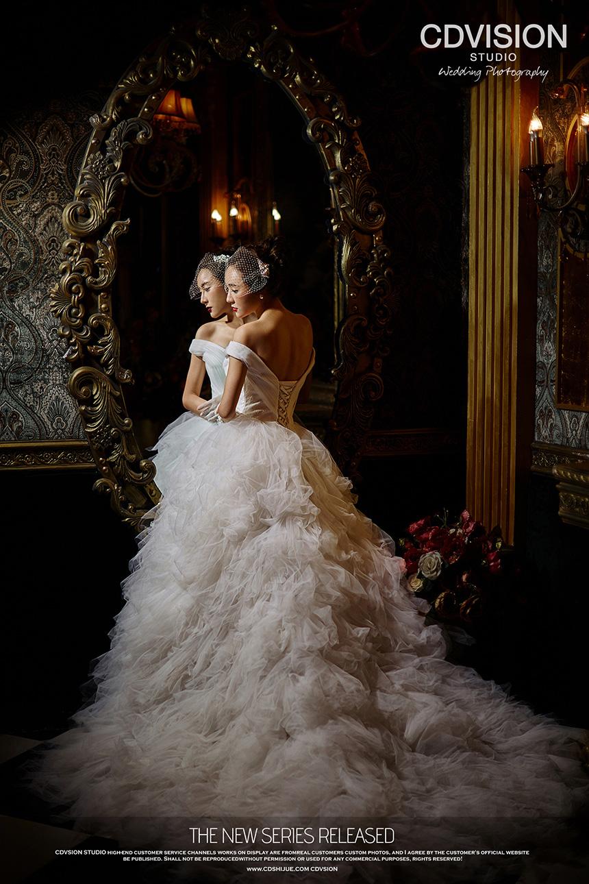 女王范婚照重现千年欧式王朝——cd视觉复古皇室风格
