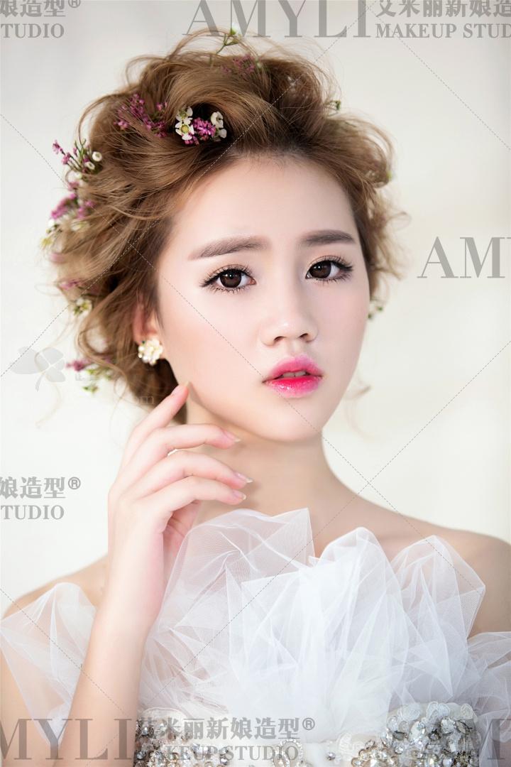 最全的空气感新娘盘发造型,化妆师值得收藏!
