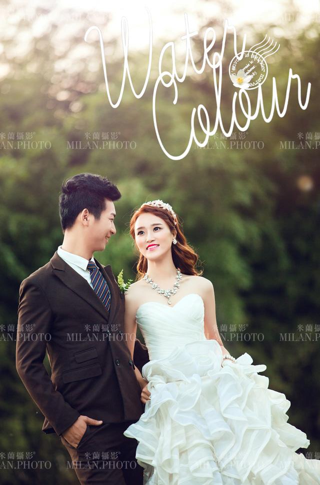 西安米兰婚纱摄影#婚纱照怎么搭配男女服装