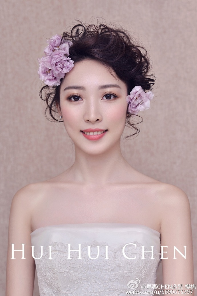 妆师都在学这些新娘造型,因为太美了图片