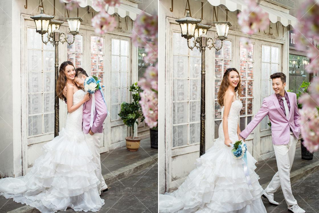 贵阳婚纱摄影哪家好 世纪新娘室内韩式婚纱照欣赏图片
