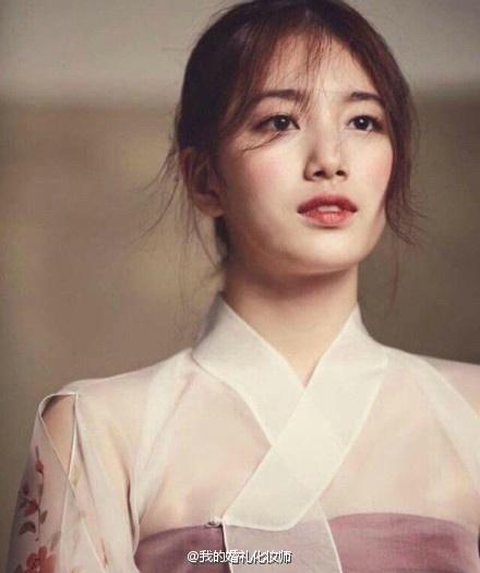 传统韩式新娘造型:国民初恋秀智