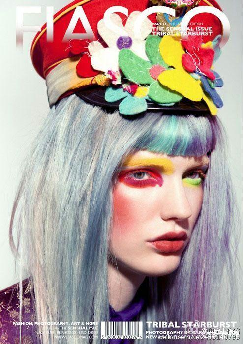 时尚创意彩妆造型 喷枪的色彩