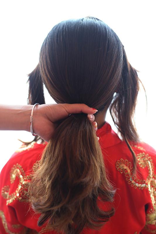 美美哒秀禾新娘发型教程图片