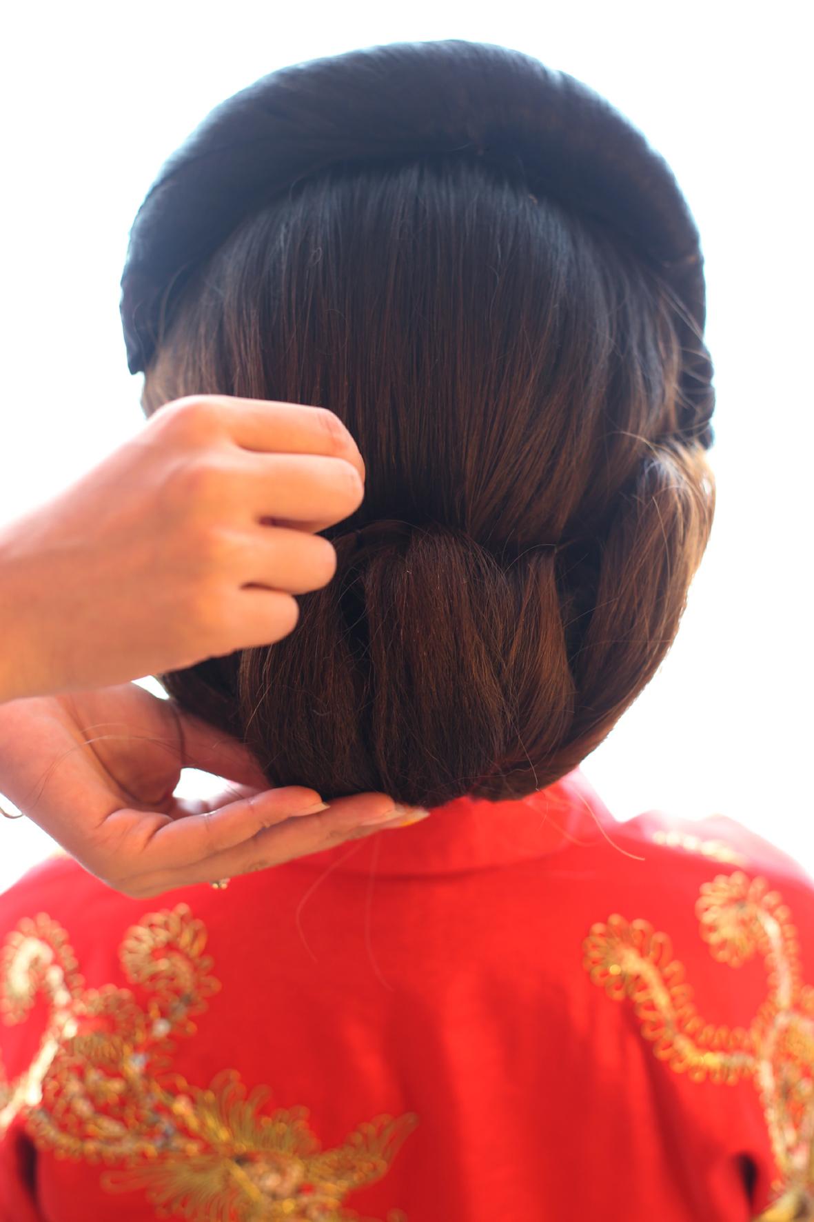 美美哒秀禾新娘发型教程