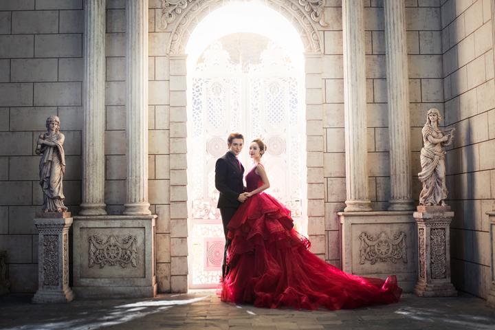 欧式复古婚纱照,优雅奢华的浪漫体验