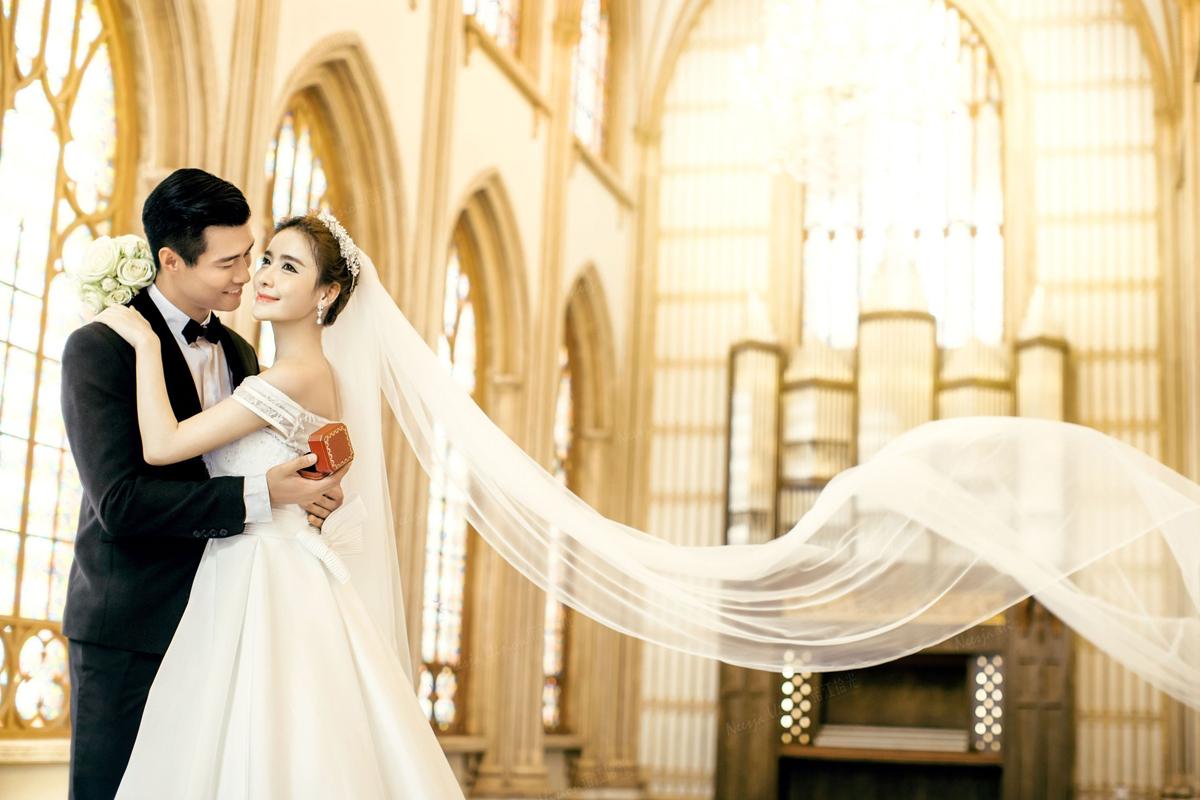欧式婚纱背景素材