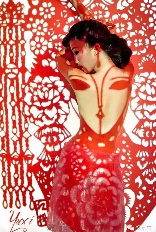 当剪纸遇到女人:剪影中的妩媚妆容造型