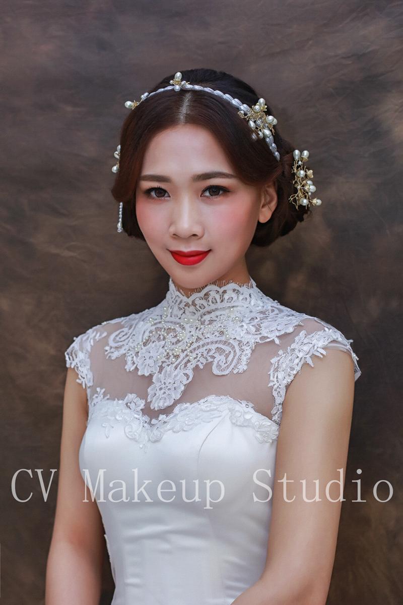 复古时尚新娘造型