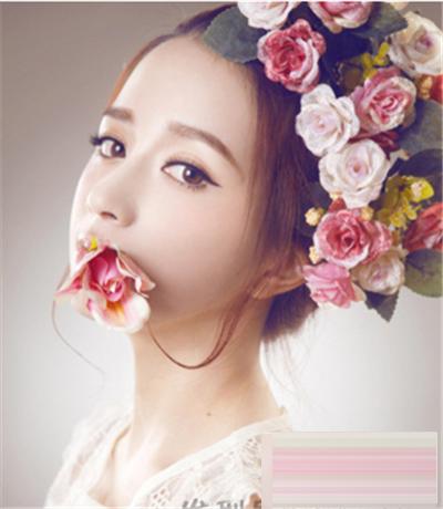 优雅大方的韩式新娘妆