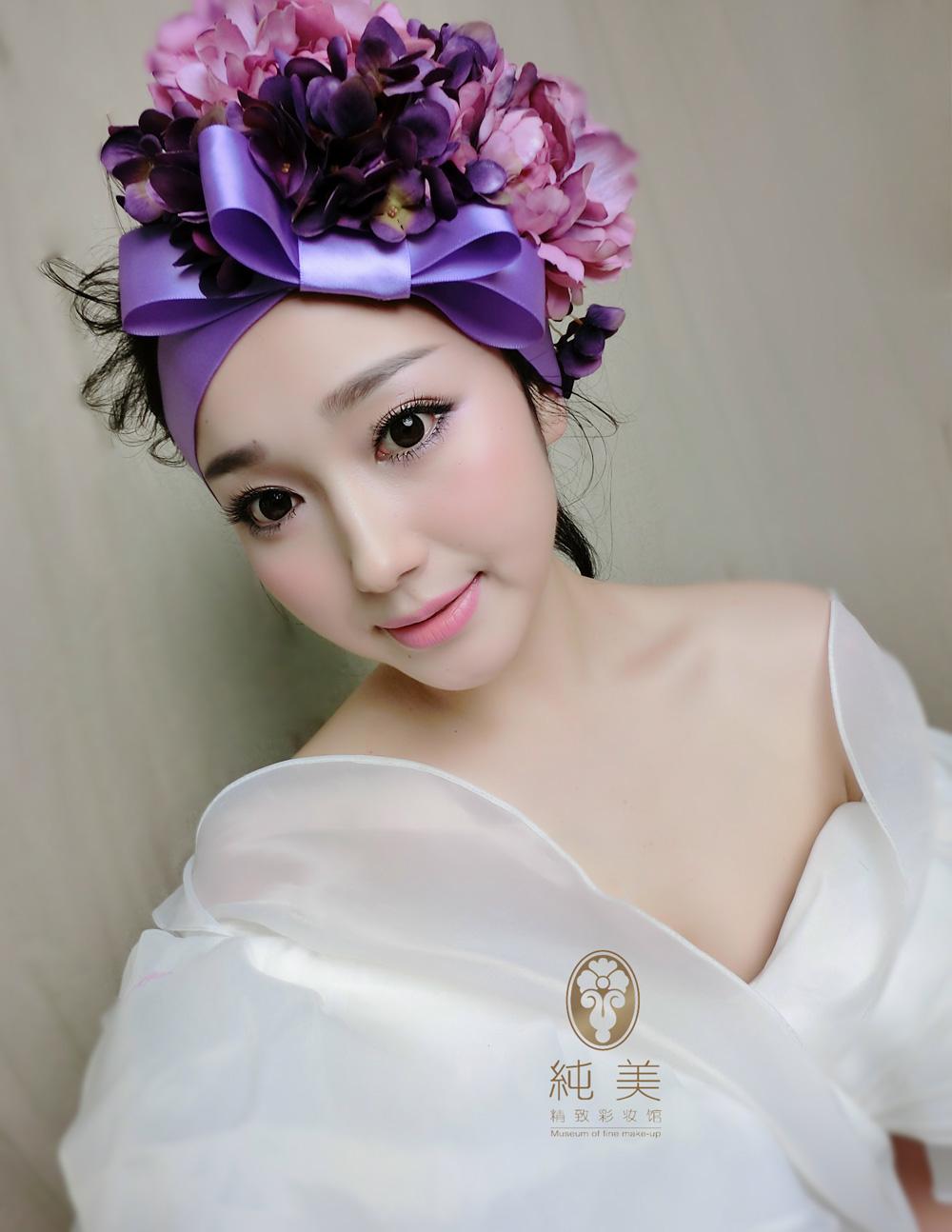 仙气森系新娘化妆造型图片