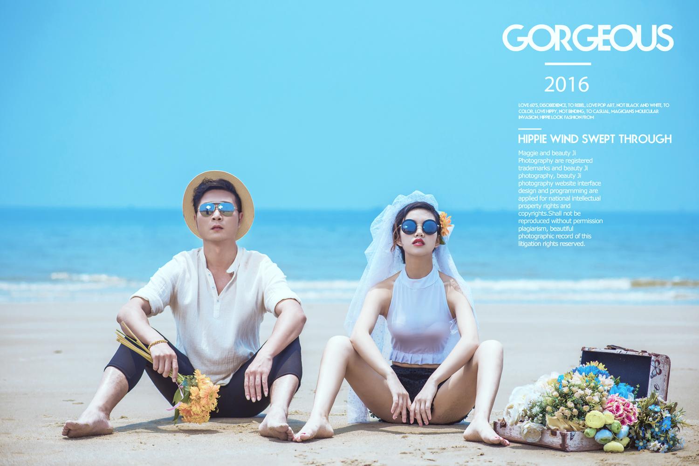 北海银滩海景婚纱照最新优惠图片