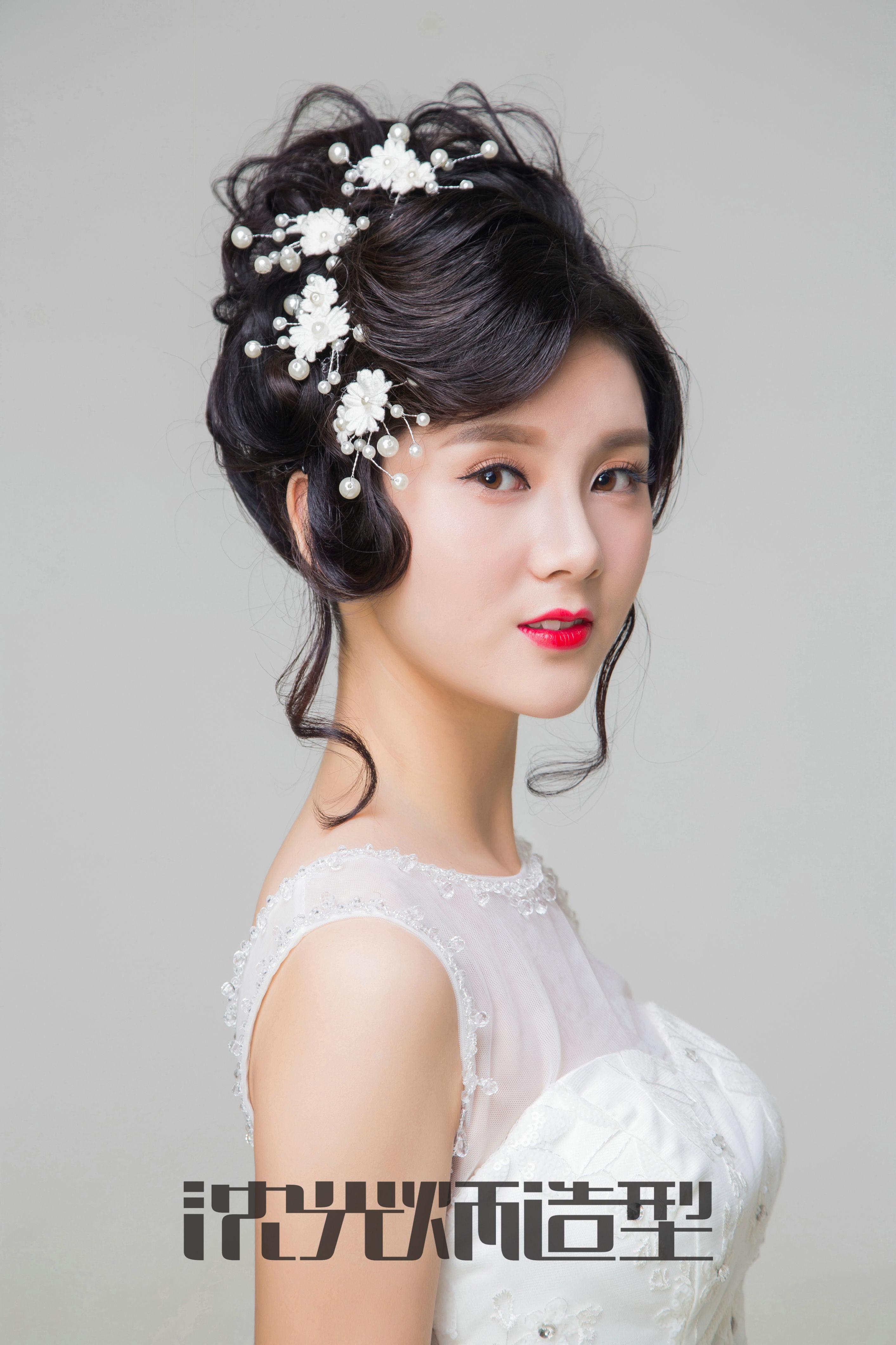 2017唯美盘发新娘发型丨沈光炳造型