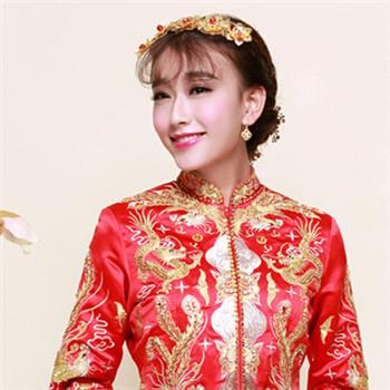 古典新娘发型 几款秀禾服新娘造型搭配 化妆教程图片