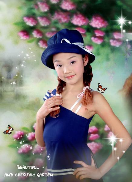 12岁的小女孩_儿童摄影作品