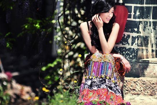 丽江古镇风情画 美女写真