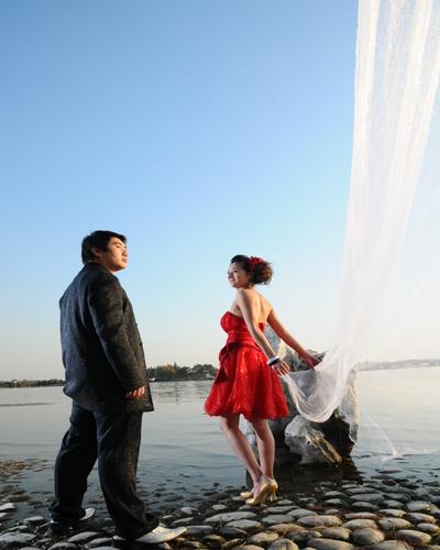 婚纱照欣赏--落雁岛景区
