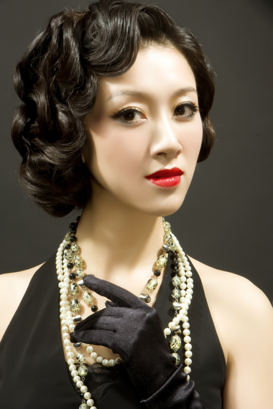 夜上海旗袍发型图片展示