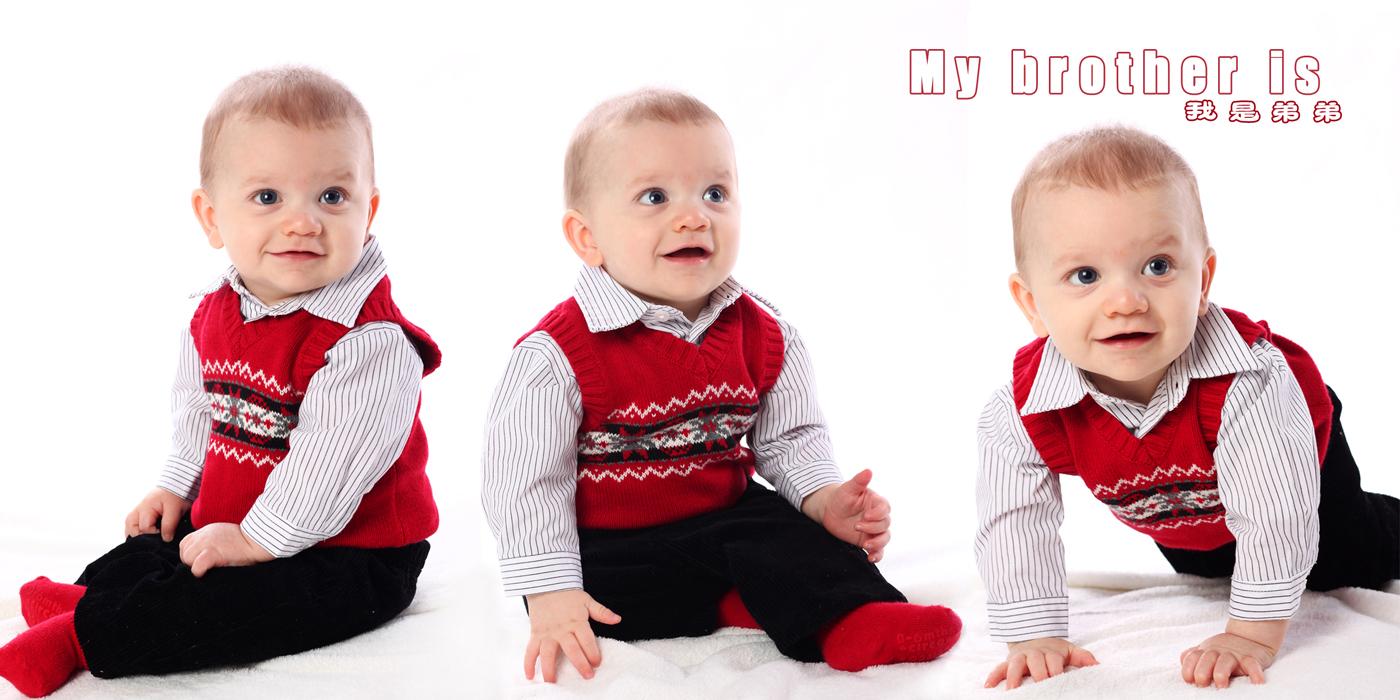 第三次拍外国宝宝,挺可爱的美国兄弟,希望你们喜欢!