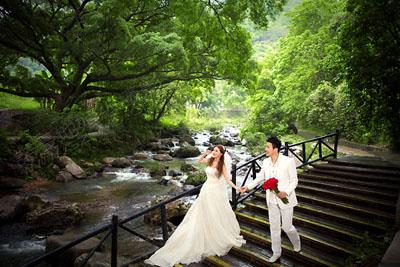 深圳婚纱摄影广州从化南国小九寨外景婚纱照