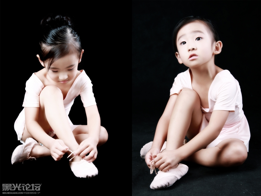 跳舞的小女孩_儿童摄影作品