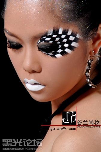 彩绘妆面造型结合